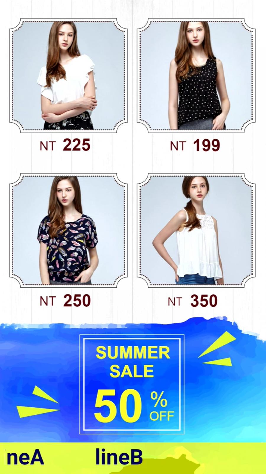 流行女裝 - 夏季促銷